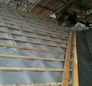 TAS Thatch Firewall Membrane installed at the National Stud