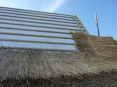 Maltings Farm - new thatch with TAS100 Thatch Fireboard